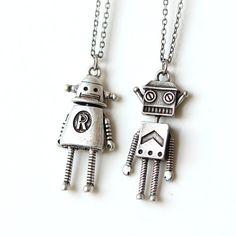 Robot Necklace / cute robot necklaces robot jewelry by laonato