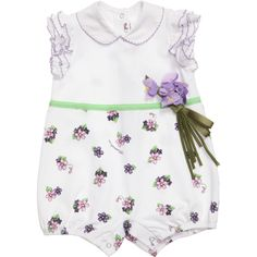 Monnalisa Lilac Floral Baby Shortie at Childrensalon.com