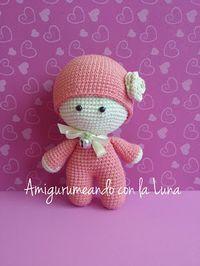 crochet tutorial for doll ♥ Free Crochet Bag, Crochet Dolls Free Patterns, Crochet Doll Pattern, Amigurumi Patterns, Amigurumi Doll, Crochet For Kids, Doll Patterns, Diy Crafts Crochet, Crochet Toys
