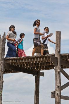 Burma's Way Amarapura and U Bein bridge the long teak bridge  #travel #photography #fotografia #Burma #Birmania #Myanmar