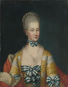 1760-1770 Austrian painter of the second half of the 18th century - Archduchess Maria Amalia