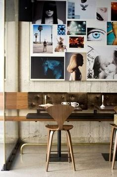 inspiring cafe, pared down and perfect for creating.