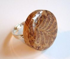Wine Cork Ring Leaf Pattern by MissCourageous