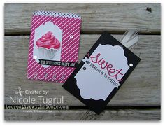 Sweet Cupcake Mini Treat Card becreativewithnicole.com