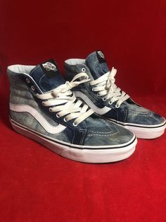 17c4d9e5ce Vans Authentic High Top Denim Tie Dye Mens Size 8 Vans Skate  fashion   clothing