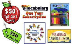 Enter to win any of these awesome prizes in the Caring Classrooms Contest! (Sept and Teaching Resources, Teaching Ideas, Subscription Gifts, Primary Classroom, Vocabulary, Awesome, Vocabulary Words