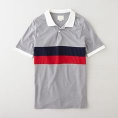 Band of Outsiders Panel Stripe Polo | Men's Polos | Steven Alan