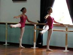 Catarina, Grand Battement Grade 4 RAD (age 11) - lots more ballet class videos on the original 'Daisy' board . .