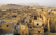 cities of ancient egypt | the ancient mud town of al qasr one of the towns in the dahkla oasis ...