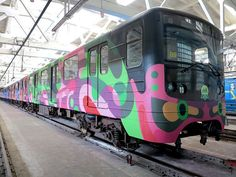 new train for Kyiv undergrauond painted by Berlin artist Reka One