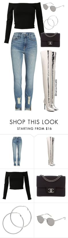 """Untitled #230"" by marcia-micaela ❤ liked on Polyvore featuring Good American, Balenciaga, Chanel, Melissa Odabash and Garrett Leight"