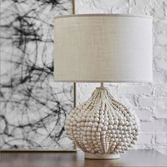 Table Lamp-Modern-Bohemian-Coastal Beach Decor-Beaded-Free Shipping - The Rustic Pelican