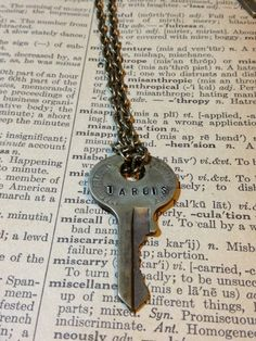 Steampunk Doctor Who Inspired Tardis Key Necklace on Etsy, $12.00