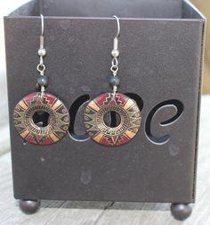 Clay earrings handmade in Peru. Fair Trade.