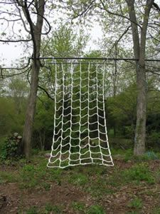 Rope area. Tight rope walking, rope net climbing, rope hammock, tyre swing