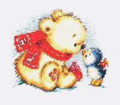 """A BRAND NEW COUNTED CROSS STITCH KIT """"CHRISTMAS GIFTS"""" ALISA #ALISA"""