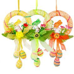 Feliz Páscoa Coelhinho Dia Flor Floral Guirlanda Coroa De Porta Decoração Artesanato Brinquedo De Pendurar   Casa e jardim, Decoração de Natal e outras ocasiões, Páscoa e Primavera   eBay!