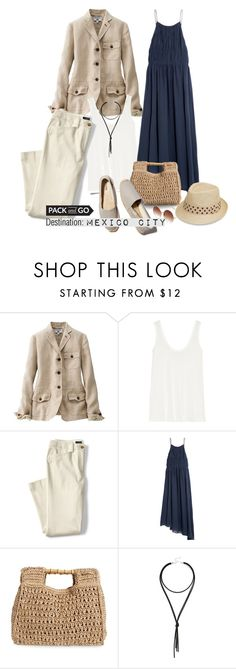 """""""Untitled #382"""" by taz7568 ❤ liked on Polyvore featuring Uniqlo, The Row, Lands' End, TIBI, San Diego Hat Co., Lulu*s, Soludos, Topshop, summerstyle and Packandgo"""