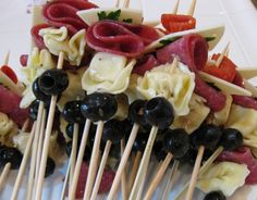 Easy appetizer recipe for Antipasti Kabobs recipe | Refrigerator Soup