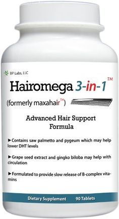 Hairomega 3-in-1 (was Maxahair) Dht-blocking  Nutrient Providing  Circulation Improving Hair Loss Supplement: