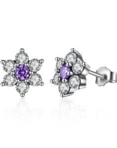 Beautiful 925 Silver Earrings. Worldwide Shipping.