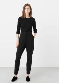 Detachable belt trousers   MANGO