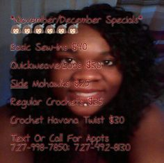 Text For Appts 727-998-7850 #hairspecial