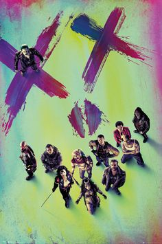 Suicide Squad Face - Official Poster. Official Merchandise. Size: 61cm x 91.5cm. FREE SHIPPING