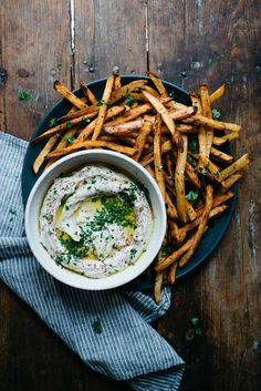 Summer Fridays!: Spicy Hummus (Oven) Fries   dolly and oatmeal