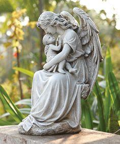Another great find on #zulily! Angel & Baby Statue #zulilyfinds