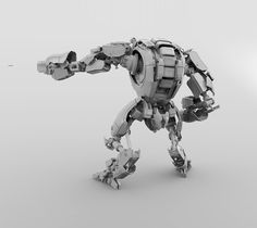 S.W.A.T.-BOT Concept modeled with ZBrush