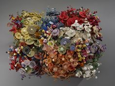 Button flowers...