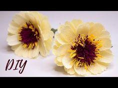 Crepe Paper Flowers Tutorial, Paper Flowers Craft, Giant Paper Flowers, Flower Crafts, Diy Flowers, Paper Crafts, Diy Crafts, Egg Art, Handmade Flowers