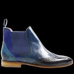 Si le bleu est votre couleur préférée, les bottines chelsea femme Jessy 4 par Melvin & Hamilton sont faites pour vous : cuir décoré & nuances variées !