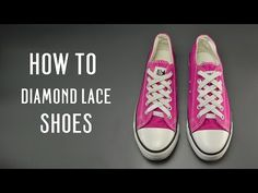 How to Diamond lace your shoes How To Tie Converse, Lace Converse Shoes, Ways To Lace Shoes, How To Tie Shoes, Kid Shoes, Shoe Boots, Shoe Lacing Techniques, All Star, Tennis Vans