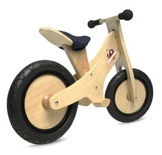 Natural Pushbike with foot-pegs provides a great starting point for children not ready yet for the conventional two-wheeled bicycle