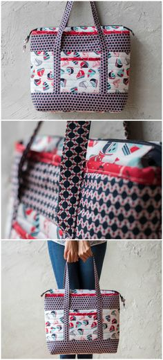 Sail Away Totefbag sewing pattern featuring Lily & Loom On Deck