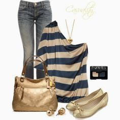 Fashion Is Your Inspiration: Daily Outfits | Silk-Satin Striped Top