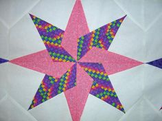 - Pink and Purple Star Block