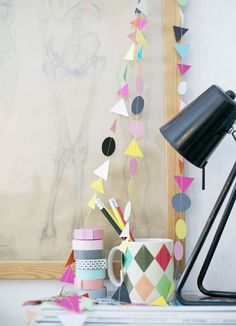 Love this colourful paper garlands