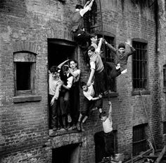 Lower East Side, 1940 (When I was a kid, we used to play around in abandoned buildings also).