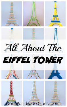 France Unit Study Lesson Ideas - Geography country studies - Home Baran Eiffel Tower Craft, France For Kids, France Craft, Around The World Theme, Around The World Crafts For Kids, France Country, Europe Continent, World Thinking Day, My Father's World