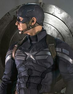 Captain America stealth suit and shield