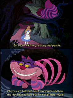 Ideas Quotes Alice In Wonderland Cheshire Cat Tim Burton For 2019 Alice And Wonderland Quotes, Adventures In Wonderland, Wonderland Party, Arte Disney, Disney Magic, Disney And Dreamworks, Disney Pixar, Cheshire Cat Tim Burton, Cheshire Cat Disney