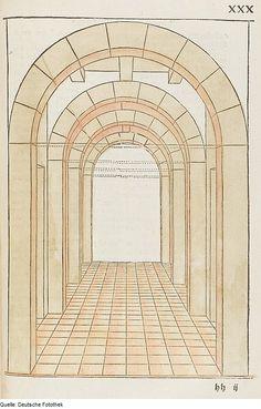 Original image description from the Deutsche Fotothek  Architektur & Geometrie & Perspektive & Bogen & Tür  AuthorWalther Hermann Ryff  ArtistPetrejus, Johann (Drucker)  Date1547