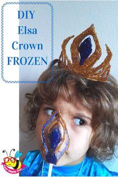DIY frozen crown using glue gun Elsa party