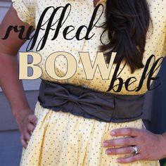 DIY Clothes DIY Refashion  DIY Ruffled Bow Belt