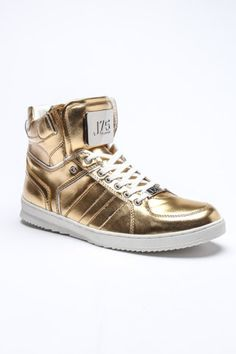 gold sneakers #gold #sneakers