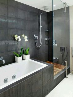 Bathroom Design Slate Grey Gray Overhead Shower Shower Nook Love The Niche Bathrooms Pinterest Shower Tiles Recessed Shelves And Nooks