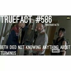 well that one guy said there was a place down the tracks to her and Daryl, does that count?
